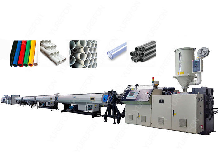 High Capacity Control Extrusion Pvc Pipe Manufacturing Equipment With Twin Screw