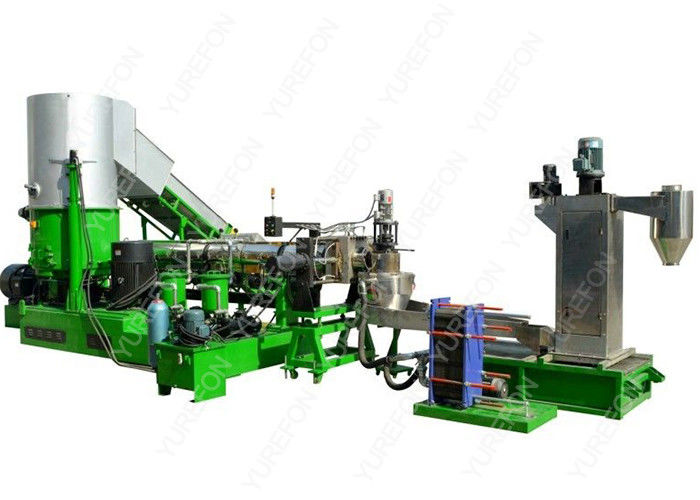 220 KW Plastic Recycling Granulator Machine With Water Ring Cutting CE Certification